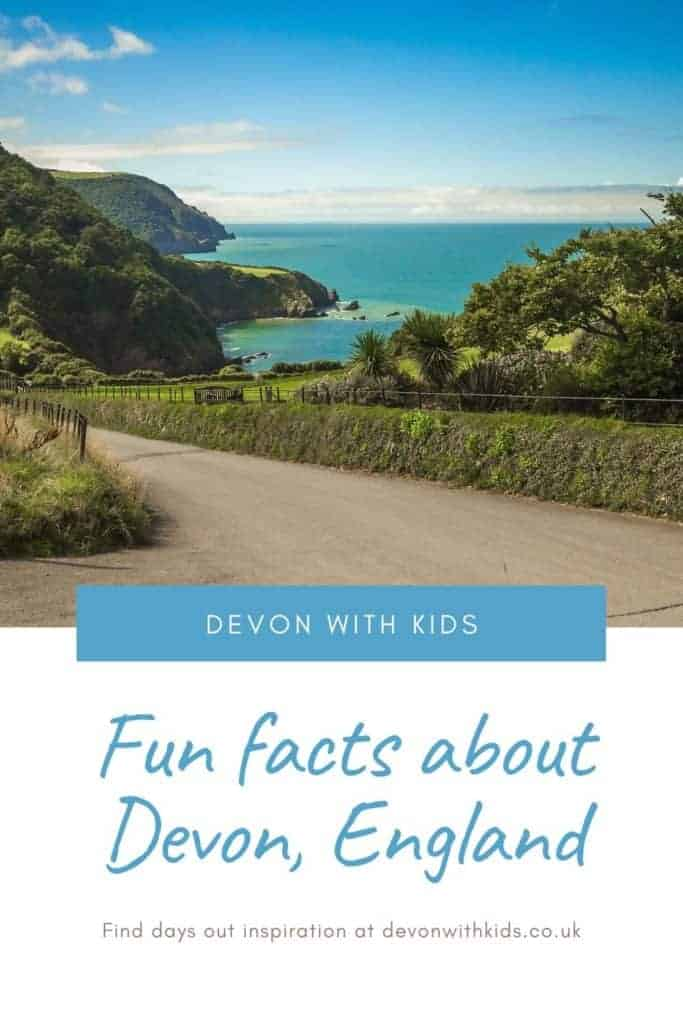Planning a holiday or day out in Devon? Share some of our Devon facts with your kids before you set off. We also have a quiz and free Devon printables on our website #Devon #devonwithkids #England #facts #fun #holiday #familytravel #tips #UK #travel #quiz #daysout #people #food #places #history