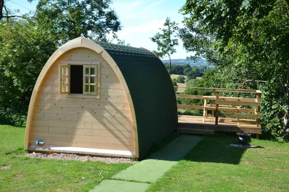Glamping pod at Andrewshayes Holiday Park in Devon