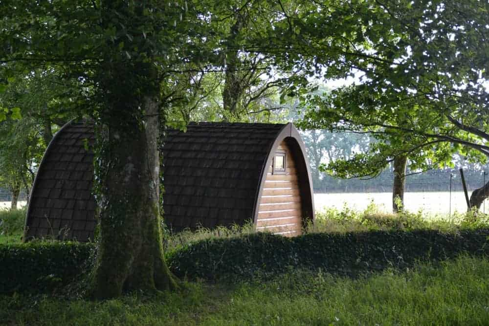 Glamping pod at Woodovis Park in Devon, England