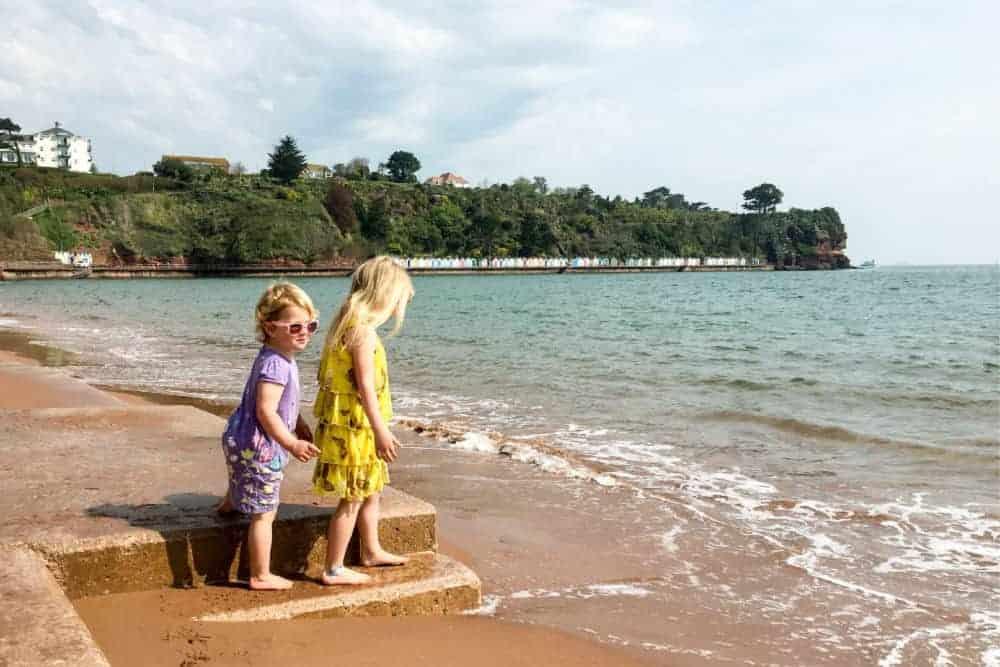 Children on the beach at Goodrington Sands in Paignton