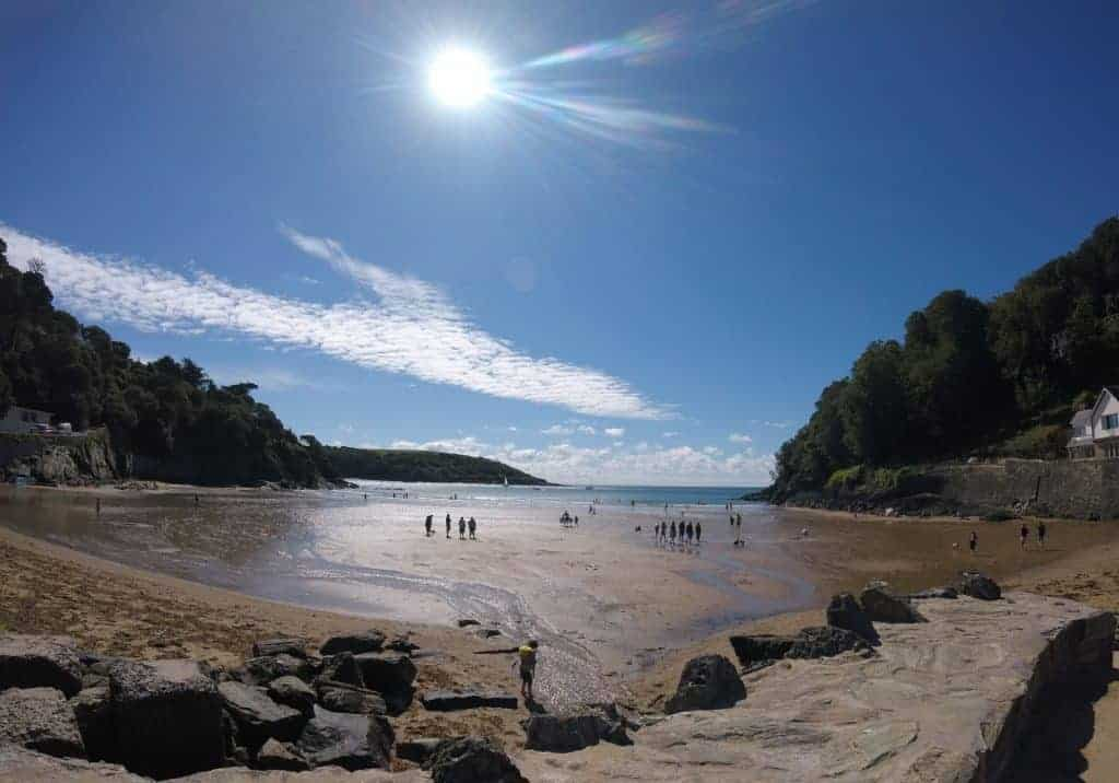 View of North Sands bay at low tide