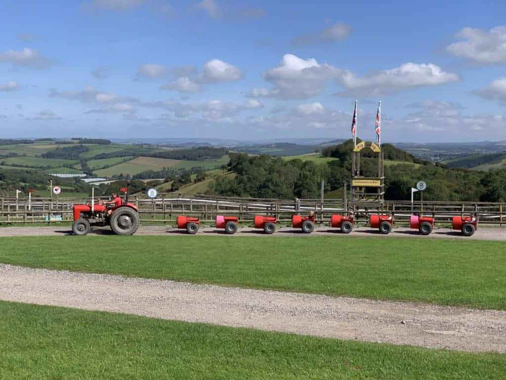 Red Rocket tractor ride at Pennywell Farm