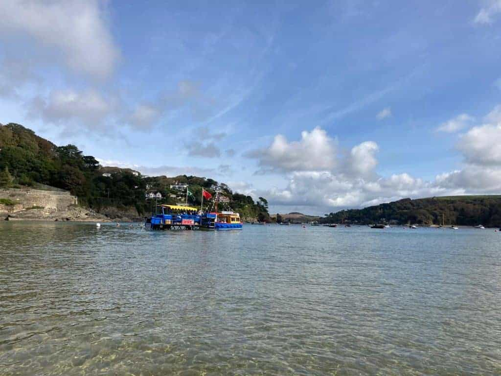 South Sands Ferry at South Sands Beach in South Devon