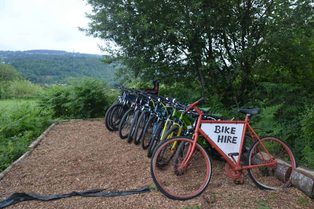 Bikes for hire at Tamar Trails in Dartmoor