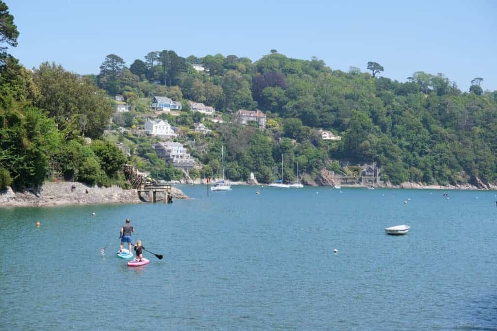 Paddle boarding on the River Dart in Devon