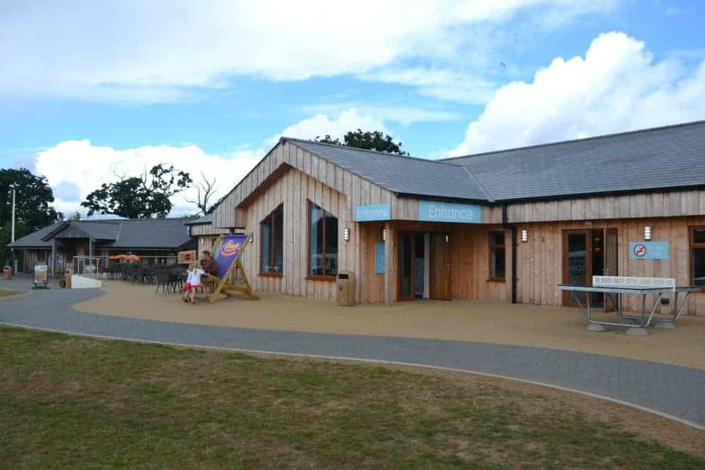Clubhouse and Reception ar Crealy Meadows campsite in Exeter, Devon