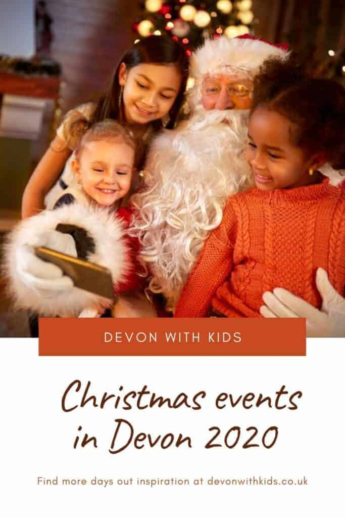 Plan your festive season with this guide to spending Christmas in Devon, including what's on in December like family events, days out, pantomimes, markets and Santa trains #Christmas #December #winter #family #events #Santa #train #fun #UK #England #visit #festive #market #pantomime #Fatherçhristmas #Devonwithkids