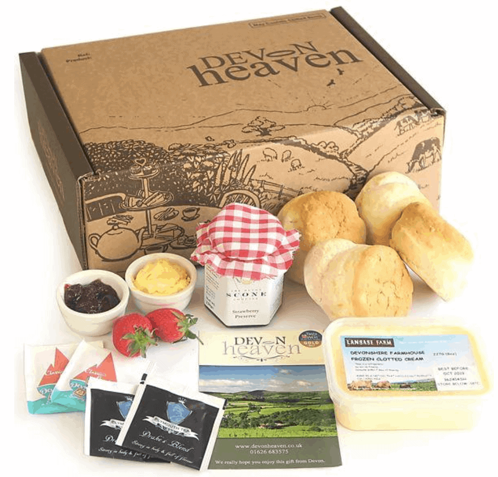 Devon cream tea delivery box from Devon Heaven