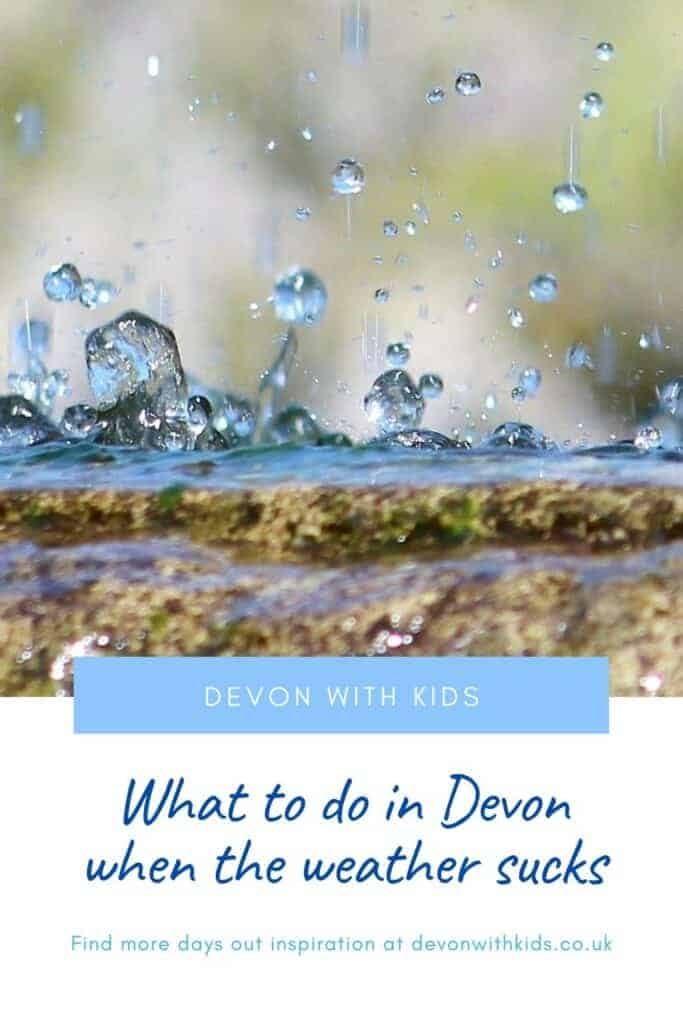 Wet days can be the nemesis of fun, especially on holiday. Luckily the weather doesn't have to stop play. Here's our top things to do in Devon in the rain #Devonwithkids #Devon #England #Uk #wet #weather #rainy #thingstodo #daysout #family #kids #indoors