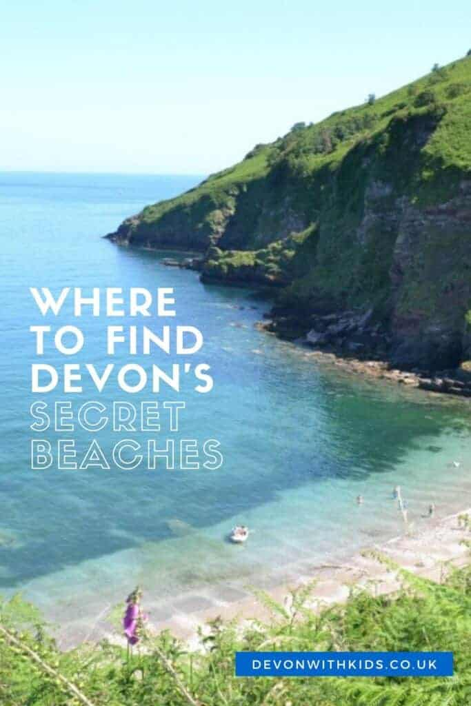Avoid busy West Country seafronts and try out these hidden beaches in Devon for families. Walking shoes are a must for these gems but the rewards are plenty #beaches #Devon #UK #England #best #family #children #secret #hidden #Devonwithkids
