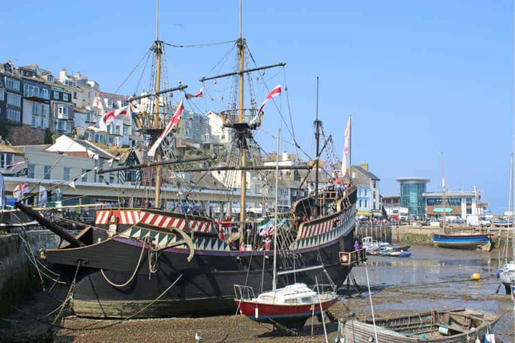 Golden Hind museum ship in Brixham, Devon