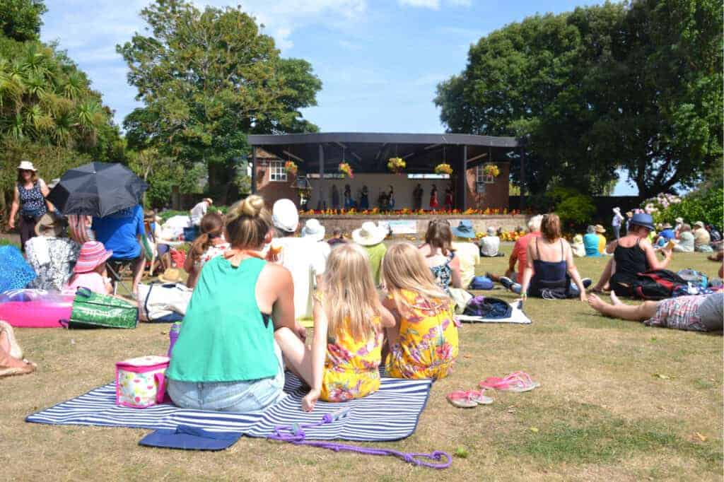 Audience at Sidmouth Folk Festival - an event in Devon