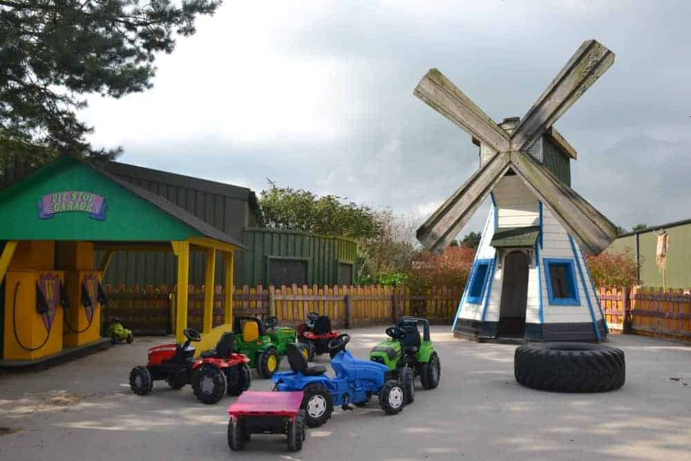 Toddler ride on tractor area