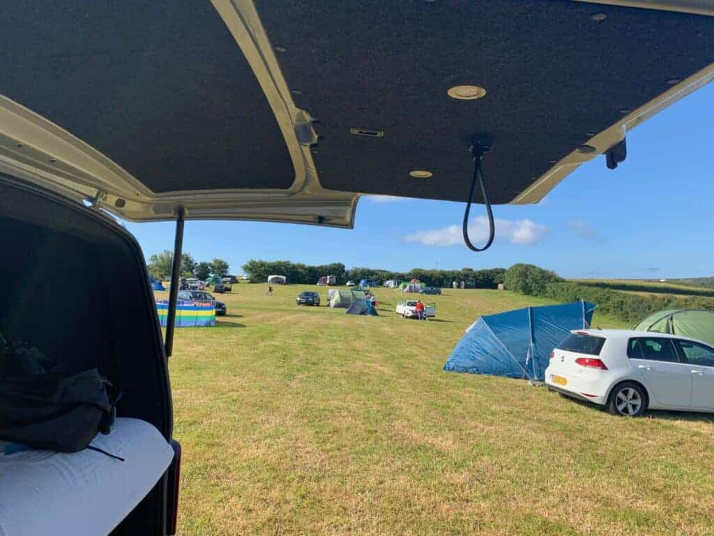 View of Wilton Farm campsite