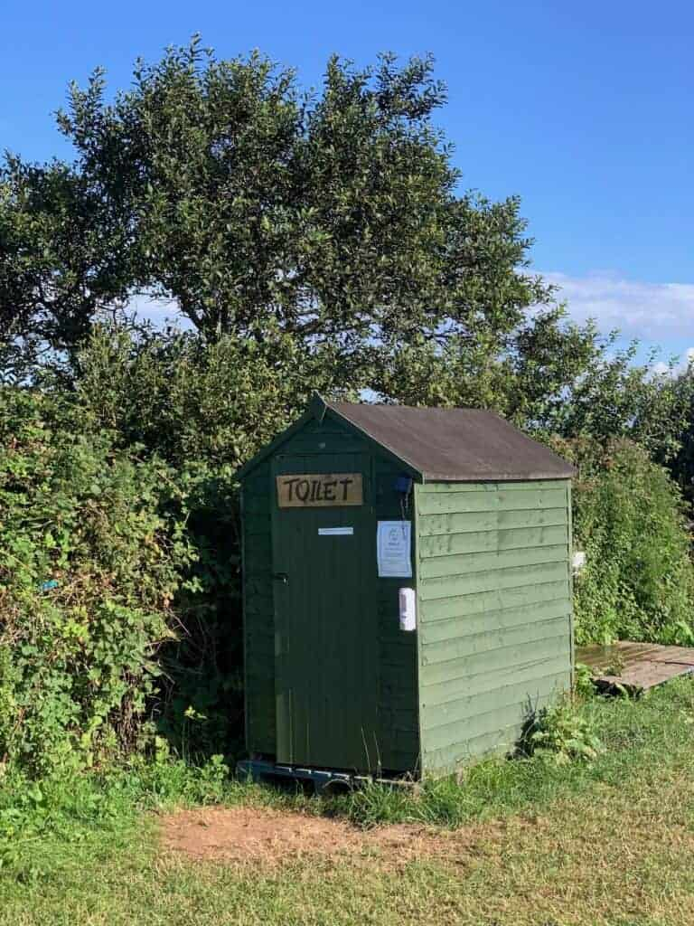 Shed for compost loo at Wilton Farm