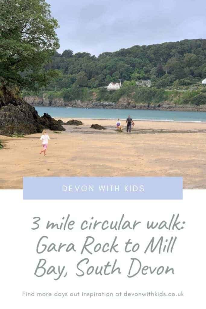If you're looking for a circular walk with kids along the Coast Path in South Devon check out this three mile route from Gara Rock to Mill Bay #walk #SouthWest #CoastPath #route #hike #Devonwithkids #family #dayout #SouthDevon #SouthHams