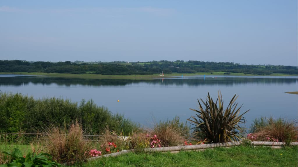 View across Roadford Lake from Visitor Centre