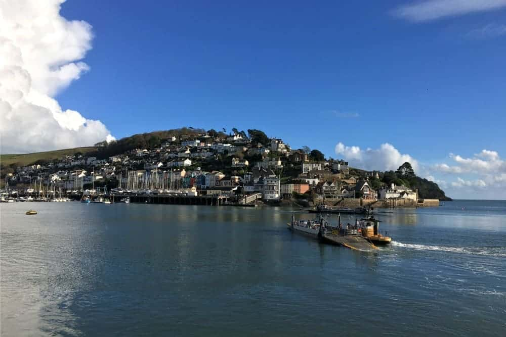 The Dartmouth lower ferry crossing the River Dart