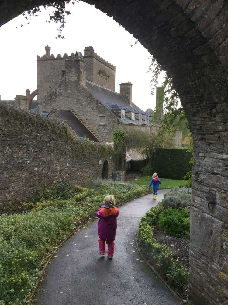 Children exploring the gardens of Buckland Abbey