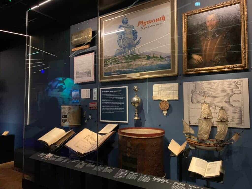 Sir Francis Drake display in 100 Journeys exhibition
