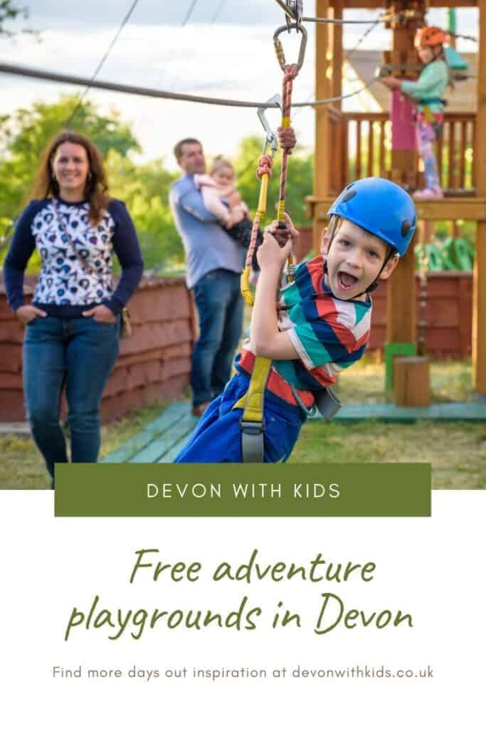Looking for free places to entertain kids? Let them slip, slide and climb to their heart's content at these adventure playgrounds in Devon #free #thingstodo #daysout #Devon #England #UK #outdoors #fun #play #park #advenure #playground #Devonwithkids