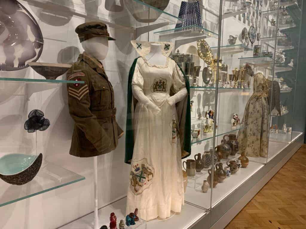 Period costumes and artefacts in the Our Art gallery