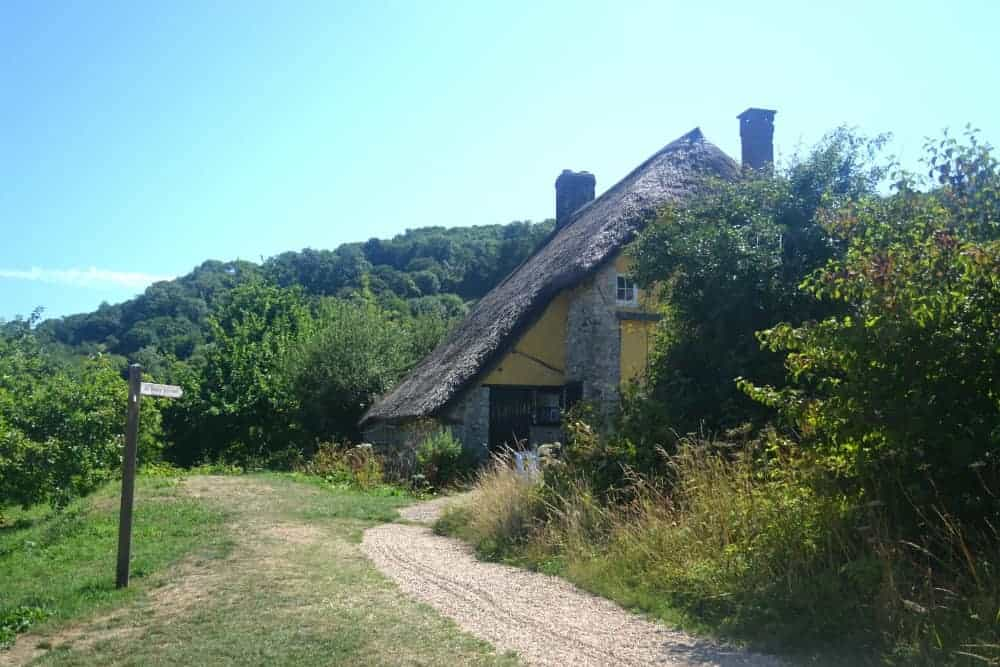 Old Bakery thatched house at Branscombe in Devon