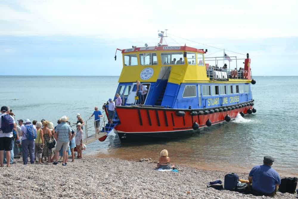 Stuart Line Cruises boat Pride of Exmouth on Sidmouth Beach