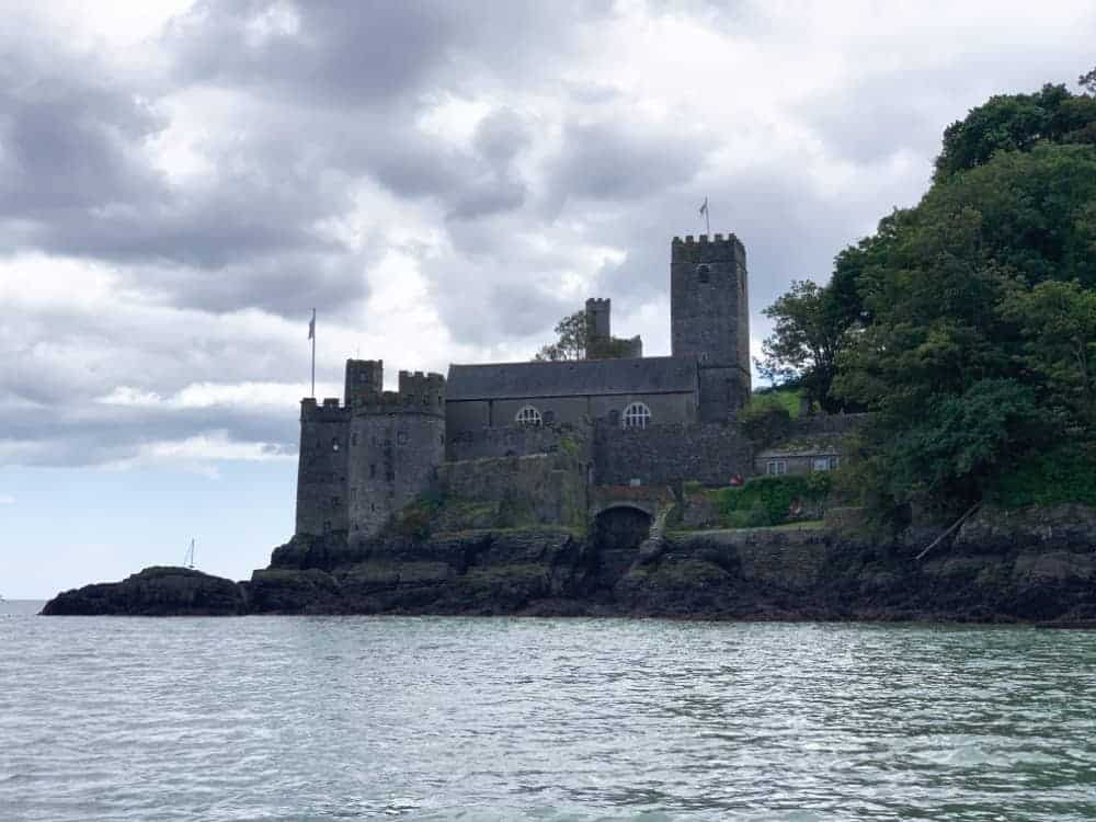 View of Dartmouth Castle from the River Dart in South Devon