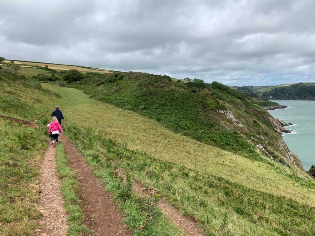 View of Little Dartmouth south west coast path