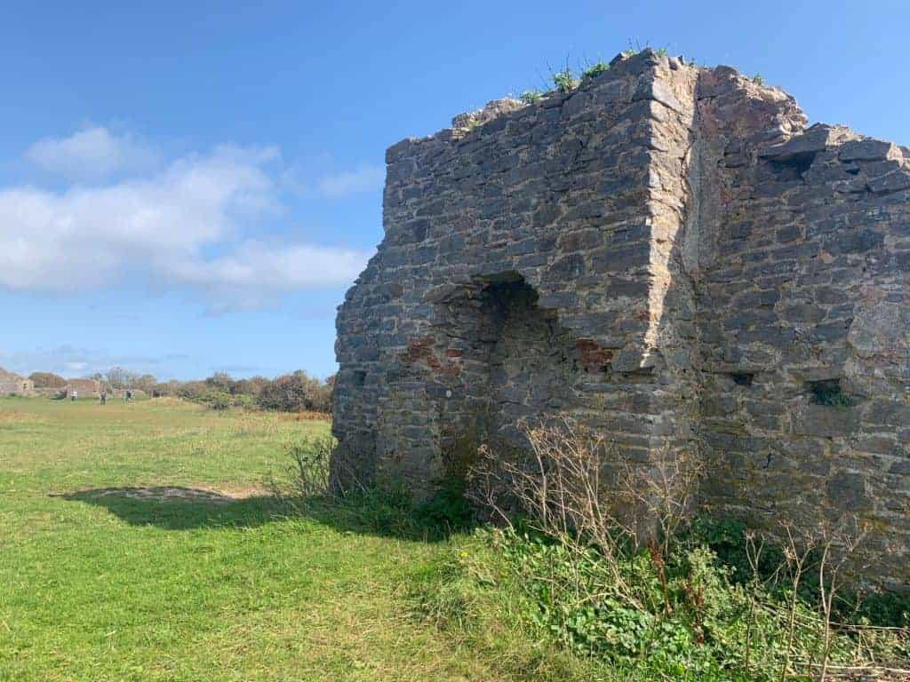Ruin of building in fort at Berry Head Nature Reserve