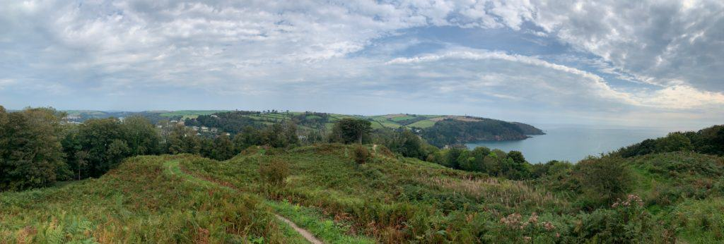 Panoramic view from Gallants Bower in Dartmouth