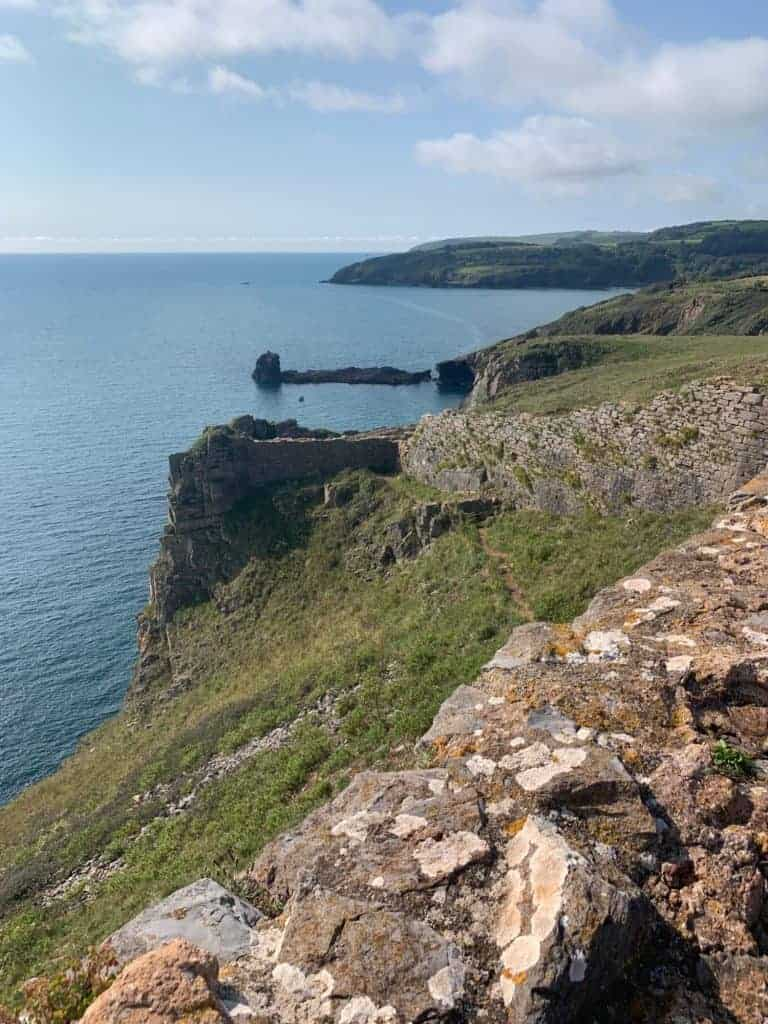 View from Fort 1 at Berry Head south towards Kingswear