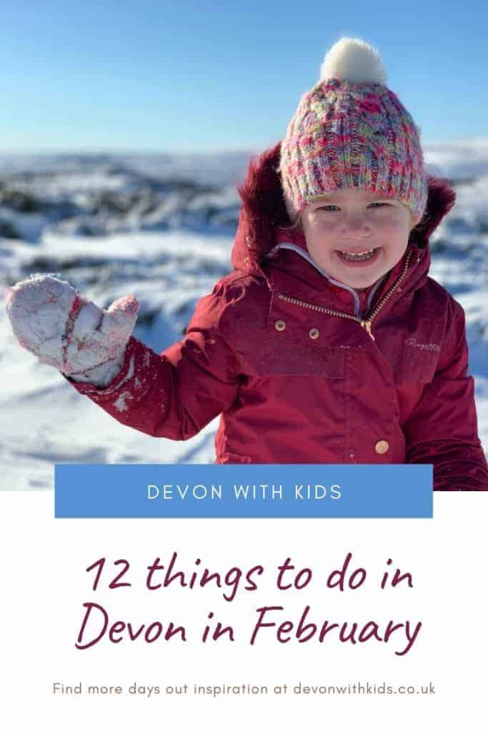 Wondering what to do with your kids in the Febraury school holidays? Check this guide to things to do in Devon in February half term 2021 #spring #Devon #England #holidays #UK #halfterm #activities #thingstodo #family #kids #children #indoor #February #Devonwithkids